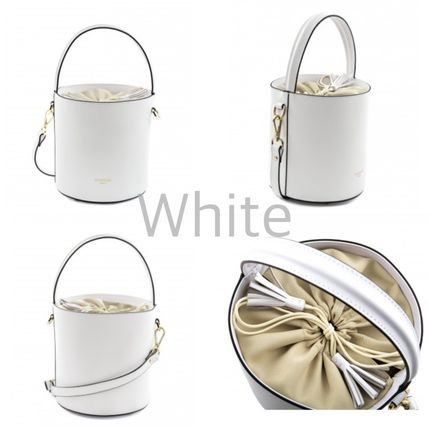 Plain Leather Purses Elegant Style Bucket Bags