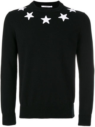 GIVENCHY Sweaters Crew Neck Pullovers Street Style Long Sleeves Plain Cotton 2
