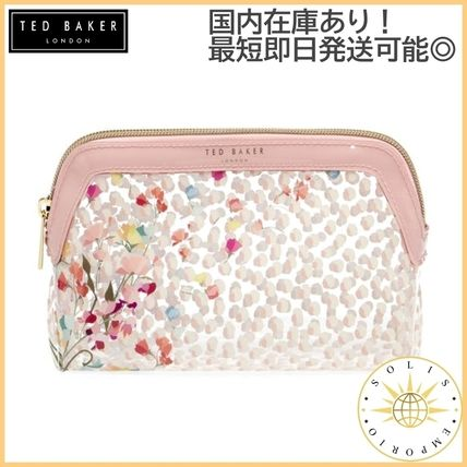 TED BAKER Logo Flower Patterns Street Style Pouches & Cosmetic Bags