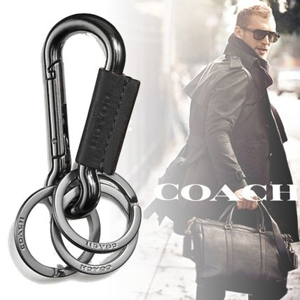 Coach Leather Logo Keychains & Holders