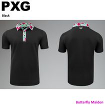 PXG Polos Pullovers Tropical Patterns Street Style Plain Short Sleeves 7