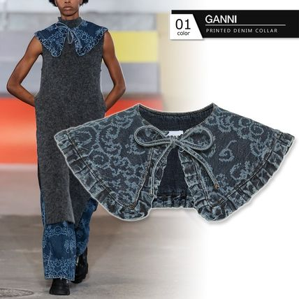 Ganni Casual Style Denim Party Style Elegant Style Collars