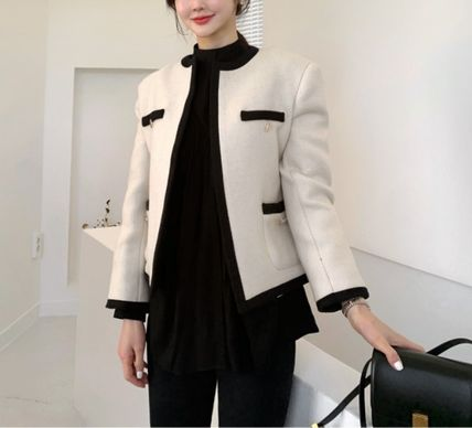 Short Casual Style Plain Medium Party Style Office Style