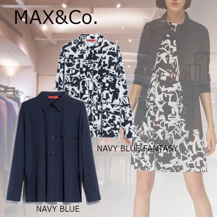 Max&Co. Casual Style Nylon Long Sleeves Plain Office Style