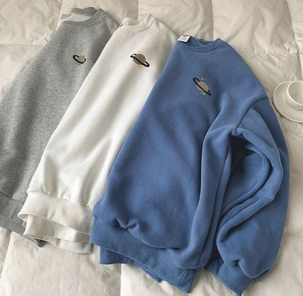 Crew Neck Cable Knit Pullovers Unisex Sweat Nylon