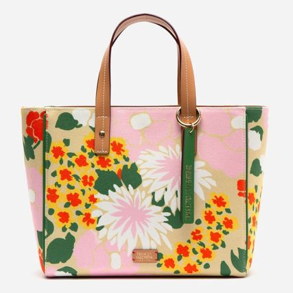 Flower Patterns Casual Style 2WAY Office Style Crossbody