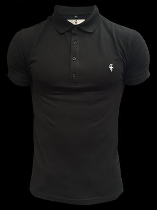 Father & Sons Logo Pullovers Plain Short Sleeves Street Style Polos