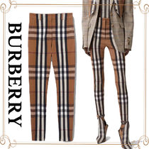 Burberry Other Plaid Patterns Street Style Long Skinny Pants