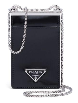 PRADA Brushed Leather Card Holder