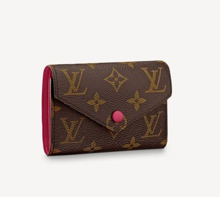 Louis Vuitton Folding Wallet Small Wallet Logo Monogram Leather