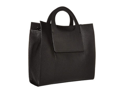 Casual Style Street Style Plain Leather Office Style