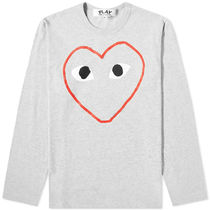 PLAY COMME des GARCONS Crew Neck Heart Long Sleeves Cotton Long Sleeve T-shirt Logo