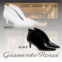 Gianvito Rossi Rubber Sole Casual Style Plain Leather Pin Heels