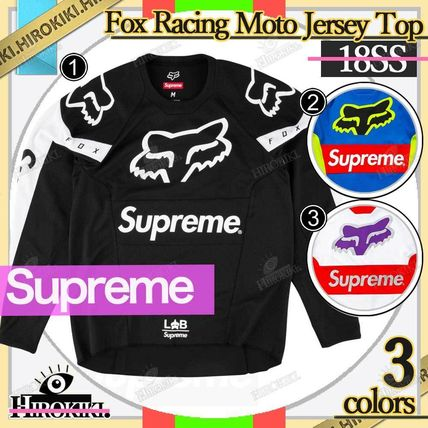 Supreme Street Style Collaboration Logo Tops