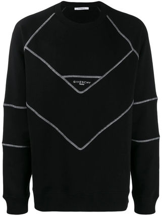 GIVENCHY Sweatshirts Street Style Long Sleeves Cotton Oversized Logo Luxury 2