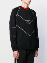 GIVENCHY Sweatshirts Street Style Long Sleeves Cotton Oversized Logo Luxury 4