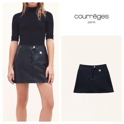Plain Logo Mini Skirts