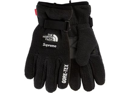 THE NORTH FACE Unisex Street Style Collaboration Plain Gloves Gloves