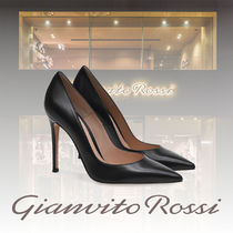 Gianvito Rossi Plain Leather Pin Heels Party Style Elegant Style
