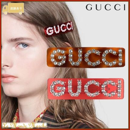 GUCCI Costume Jewelry Barettes Casual Style Blended Fabrics