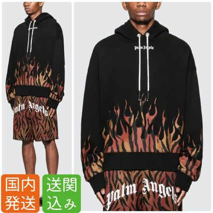 Palm Angels Hoodies Pullovers Leopard Patterns Sweat Street Style Long Sleeves