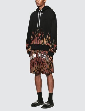 Palm Angels Hoodies Pullovers Leopard Patterns Sweat Street Style Long Sleeves 2