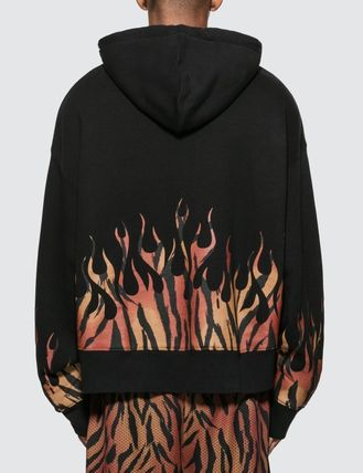Palm Angels Hoodies Pullovers Leopard Patterns Sweat Street Style Long Sleeves 3