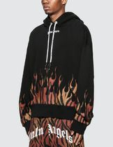 Palm Angels Hoodies Pullovers Leopard Patterns Sweat Street Style Long Sleeves 4