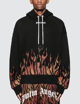 Palm Angels Hoodies Pullovers Leopard Patterns Sweat Street Style Long Sleeves 5