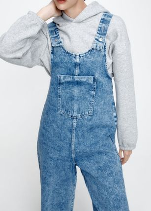 ZARA Dungarees Casual Style Collaboration Cotton Dresses