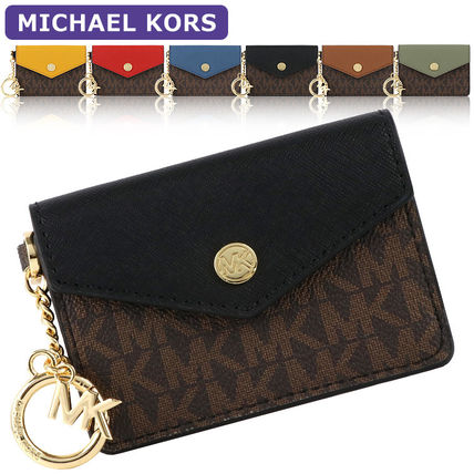 Michael Kors Leather Logo Card Holders