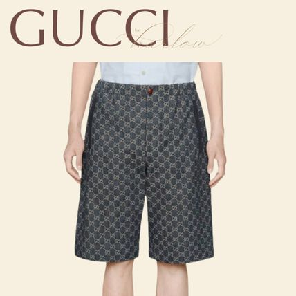 GUCCI More Jeans Printed Pants Monogram Denim Blended Fabrics Street Style