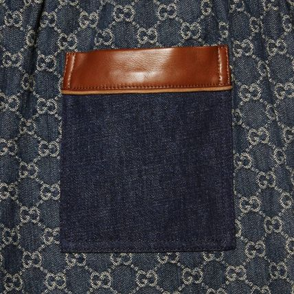 GUCCI More Jeans Printed Pants Monogram Denim Blended Fabrics Street Style 3