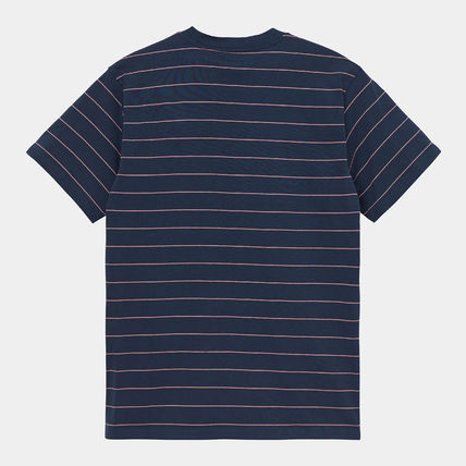 Carhartt More T-Shirts Stripes Street Style Logo T-Shirts 2