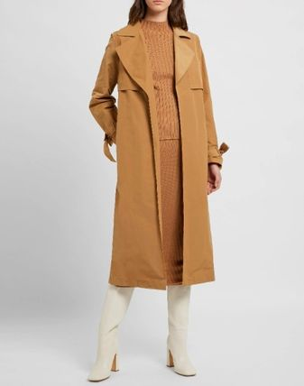 Plain Long Formal Style  Trench Coats