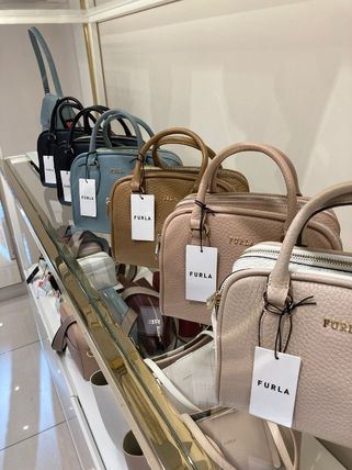 FURLA Casual Style Unisex Vanity Bags 2WAY Plain Party Style