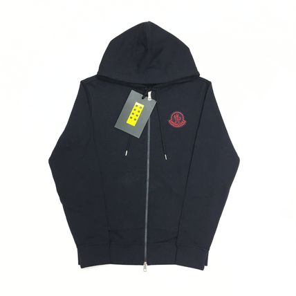 MONCLER MONCLER GENIUS Street Style Long Sleeves Cotton Logo Hoodies
