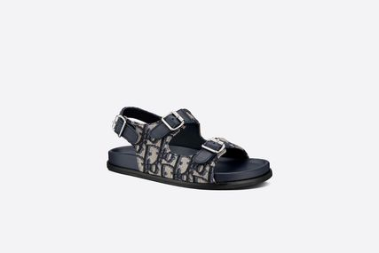 Christian Dior DIOR OBLIQUE Unisex Blended Fabrics Street Style Kids Girl Sandals