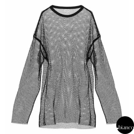 Crew Neck Long Sleeves Long Sleeve T-shirt Sheer Designers