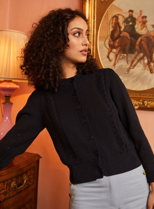 Crew Neck Casual Style Rib Long Sleeves Plain Cotton