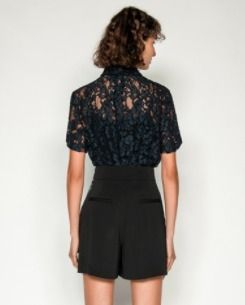 Flower Patterns Lace Shirts & Blouses