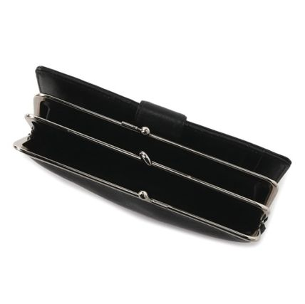 Yohji Yamamoto Plain Leather Long Wallets