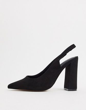 ASOS Plain Other Animal Patterns Block Heels Office Style