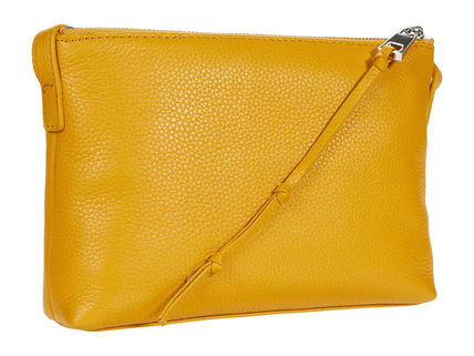 Street Style Plain Leather Party Style Satchels