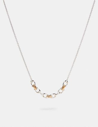 Coach Linked Signature Necklace