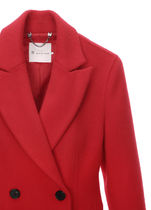 IT MICHAA Chester Stand Collar Coats Casual Style Wool Cashmere Studded Plain 5