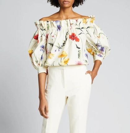 Flower Patterns Casual Style Cotton Elegant Style
