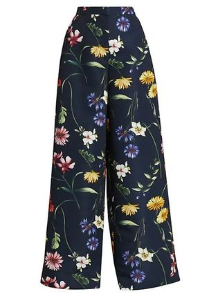 Flower Patterns Casual Style Elegant Style Pants