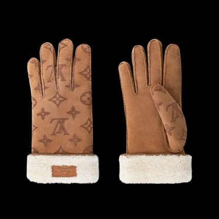 Louis Vuitton Logo Unisex Wool Street Style Gloves Gloves