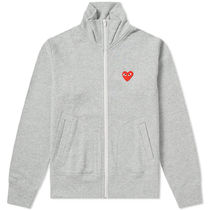 PLAY COMME des GARCONS Heart Casual Style Street Style Plain Logo Outerwear